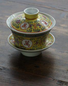 景德鎮黃釉大蓋碗