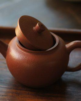 紫泥梨皮平蓋壺