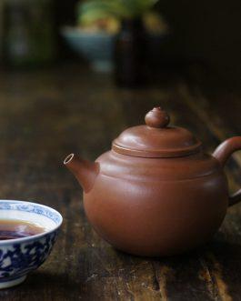 宜興紫泥蓮子蓋壺